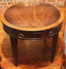 "Round One-Drawer End Table- 26"" Diameter, 22"" High"