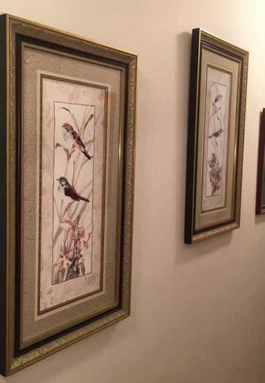 "(2) Framed & Matted Prints--15"" x 27"""