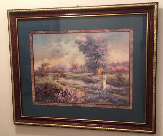 """Framed & Matted Print--Lee K. Parkinson--22 1/2"""" x"""
