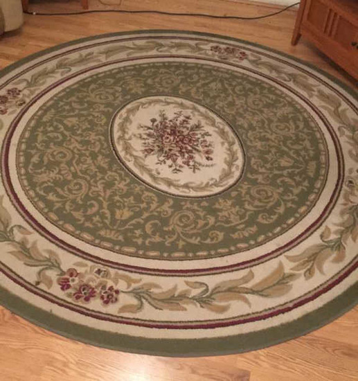 "Round Machine Made Rug--Splendor ""French"