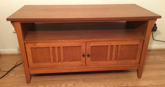 """Mission-Style Television Stand--29 /2"""" x 45"""", 44"""""""