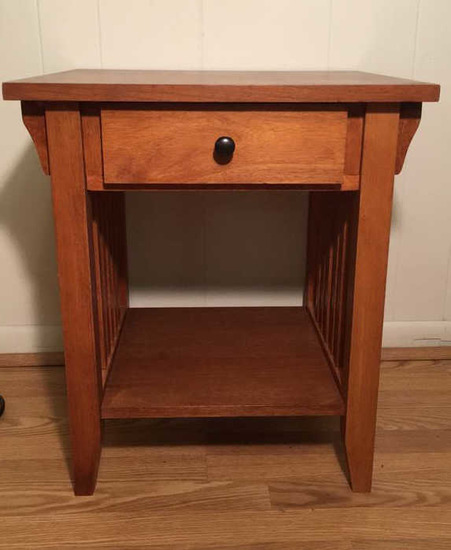Mission-Style One-Drawer End Table--