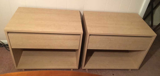 """(2) One-Drawer Night Stands—23 3/4"""" x 15 3/4"""", 2"""