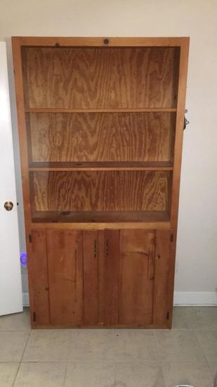 """Pine Cabinet with (3) Shelves and (2) Doors—42"""" x"""