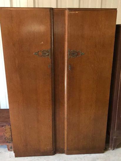 Depression Era 2-Door Wardrobe--Brighton