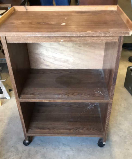 Televsion/Microwave Cart on Casters--