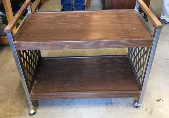 """Television Cart on Casters--32"""" x 18"""", 27 1/2"""""""