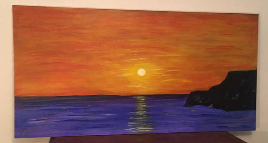 """Signed Oil Painting--48"""" x 24"""""""