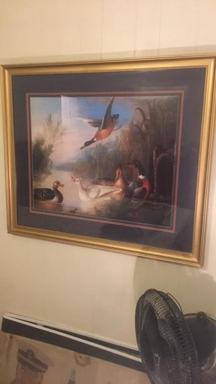 """Framed & Signed Triple Matted Print--39 1/2"""" x"""