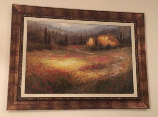 """Framed & Signed Oil Painting--45"""" x 33"""""""