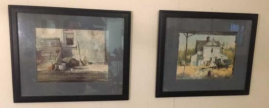 (2) Framed & Matted Frank M. Hamilton Prints:
