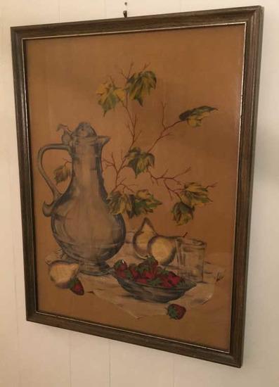 """Framed Vintage Print--19 1/2"""" x 25 1/2"""""""