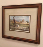 Framed & Double Matted Print by Marc Moon, S.W.S.-