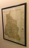 "Cook County Soil Map, 1928–23"" x 29"" Framed"