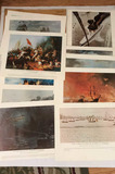 (12) U. S. Navy Combat Art Collection Prints--