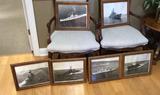 (6) 11 x 14 Framed Naval Photographs w/ copy of