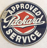 Metal Approved Packard Service Sign - 12
