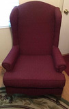 Upholstered Wing Chair with Cabriole Legs