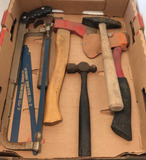 Assorted Tools: Hack Saw w/ Blades, Hammers