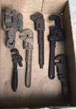 (5) Vintage Pipe Wrenches