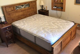Pine Queen-Size Bed