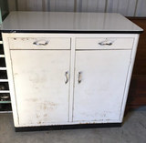 Metal Utility Cabinet with Porcelain Top--
