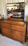 Dresser with Mirror--(6) Drawers--