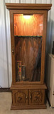 Wooden Lighted 6-Gun Cabinet with Base Storage--