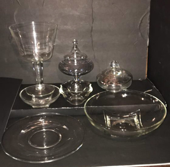 Assorted Glassware Including: Trifle Dish, Candy