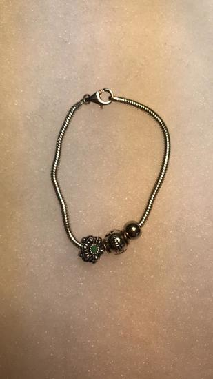 "Silver Bracelet signed ""925 Italy)"
