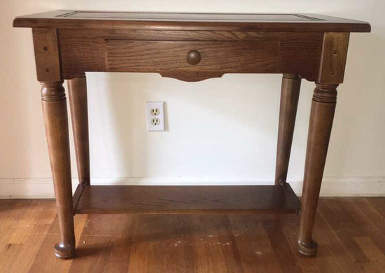 "One Drawer Table--35"" x 18"", 28 1/2"" High"