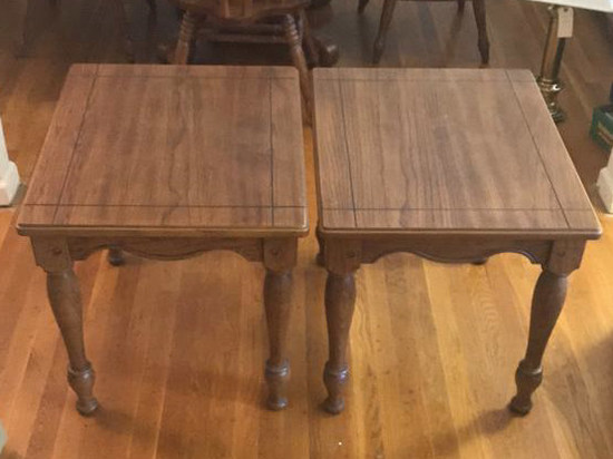 "(2) End Tables--22 1/8"" x 27 1/8"", 22 3/8"" High"