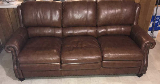 Leather Sofa by Encore Home Design Craftmaster
