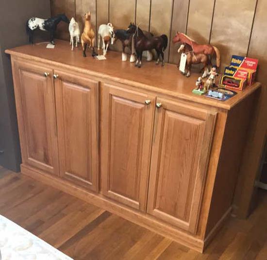 """4-Door Cabinet--60"""" x 18 1/8"""", 36 1/4"""" High"""
