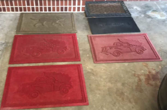 (6) Assorted Outside Floor Mats