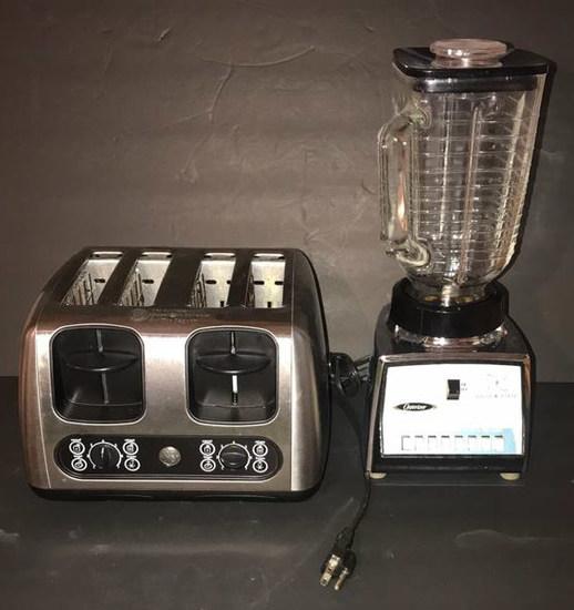 G.E. 4-Slice Toaster & Osterizer Blender