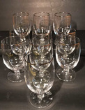 (10) Stems of Crystal with Silver Rim--Iced Tea