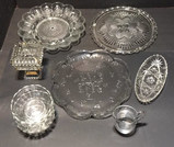 Assorted Glassware: Cake Plates, Covered Candy
