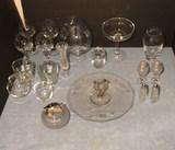 Assorted Glassware Including: Stemware, Salt &