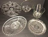 Assorted Glassware Including: Pedestal Cake