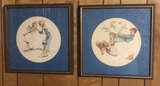 (2) Framed & Matted Norman Rockwell Prints--