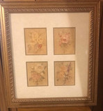 """Framed and Matted Picture 22 1/2"""" x 25"""