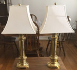 (2) Brass Table Lamps--30