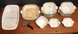 Assorted Corning Ware:  Roaster, 10