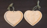 (2) Pampered Chef Stoneware Cookie Molds: