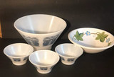 """Assorted Bowls: (1) 10 1/2"""" Bowl w/(3) Matching"""