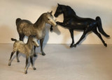 (3) Toy Horses:  (2) Signed Breyer & (1) Unmarked