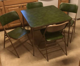 Card Table & (4) Folding Chairs