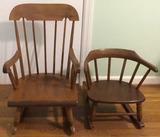 (2) Wooden Children's Chairs