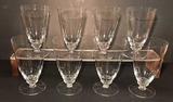 (8) Stems of Crystal Stemware--Iced Tea